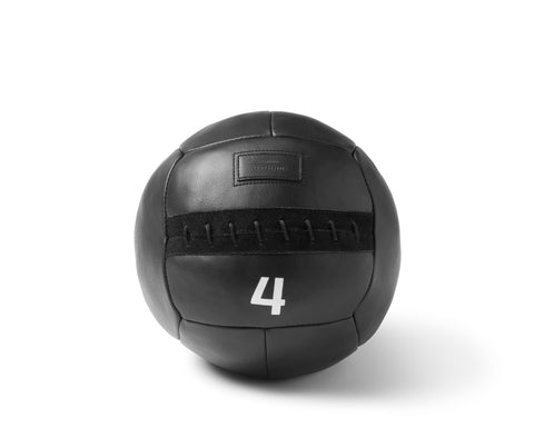 WEIGHTED MEDICINE BALL | KILLSPENCER® - Black Leather