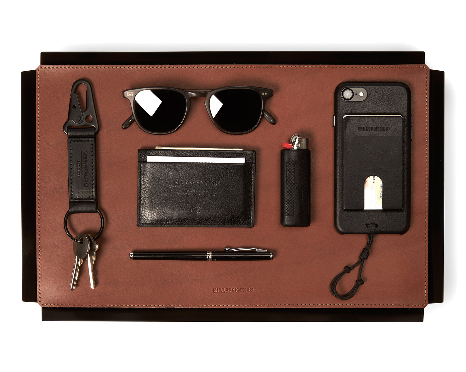 VALET TRAY | KILLSPENCER® - Cognac Bullhide Leather Medium