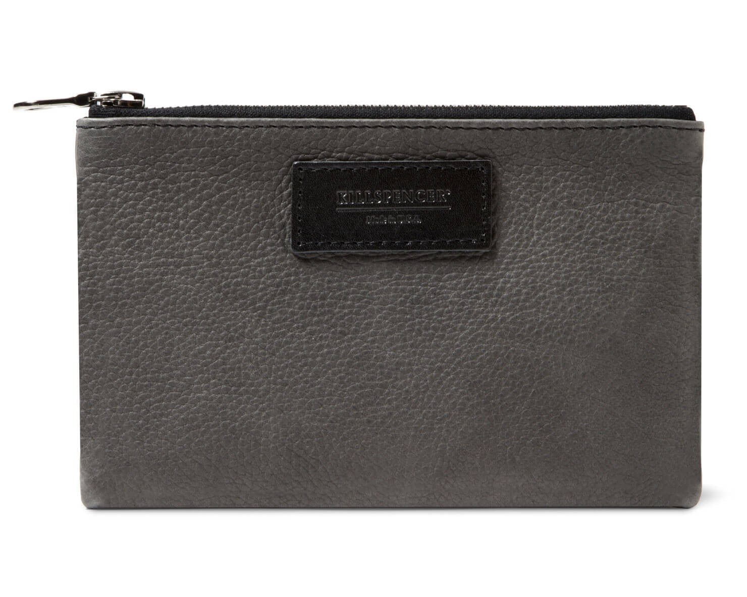 MINI ZIPPERED POUCH | KILLSPENCER® - Charcoal Grey Leather