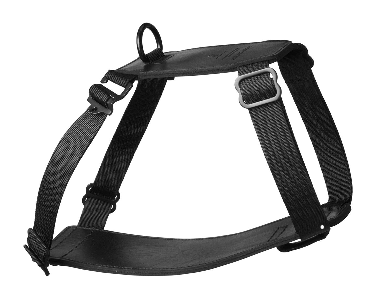 DOG HARNESS | KILLSPENCER® - Black Bullhide Leather