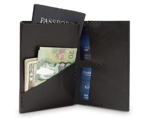 PASSPORT WALLET | KILLSPENCER® - Black Leather