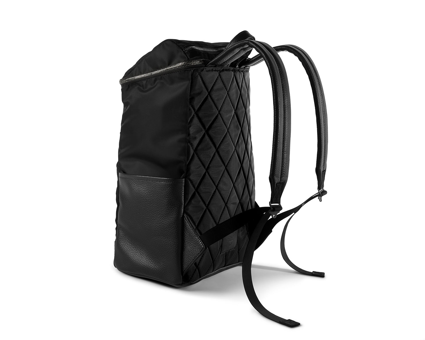 R-22 RUCKSACK | KILLSPENCER® - Black Italian Nylon and Leather