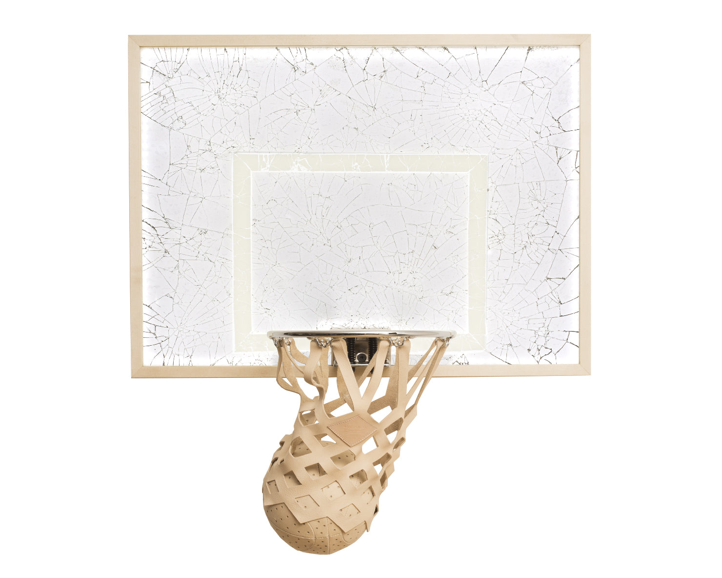 SHATTERED DREAMS INDOOR MINI BASKETBALL KIT | KILLSPENCER® - Chrome Rim and Glass Lexan Maple