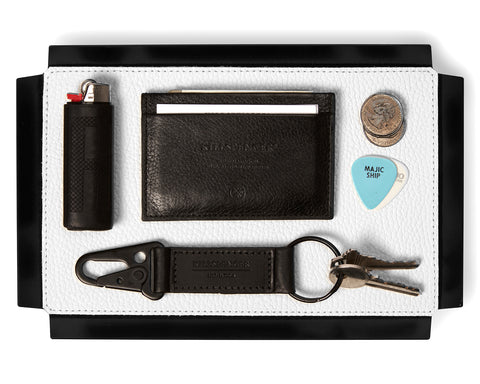VALET TRAY | KILLSPENCER® - White Leather Small