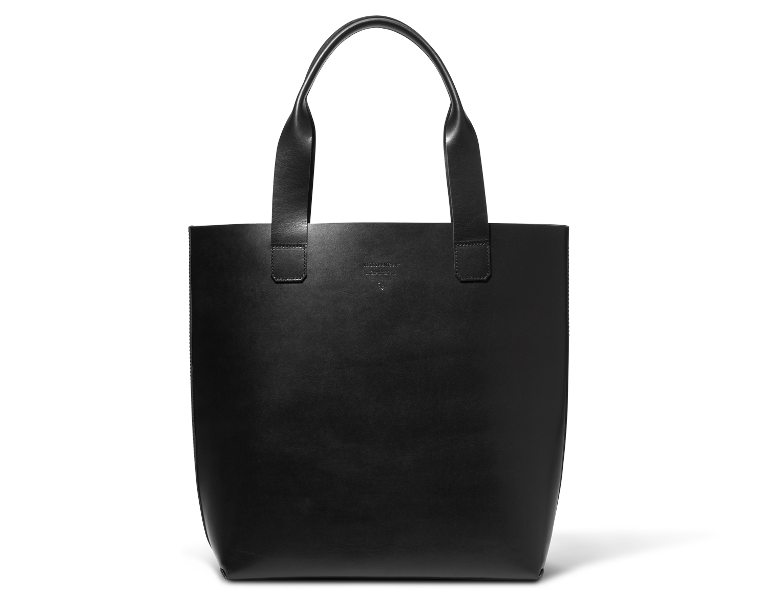 WORK TOTE | KILLSPENCER® - Black Bullhide Leather
