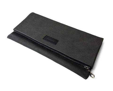 FOLDOVER CLUTCH | KILLSPENCER® - Charcoal Grey Leather