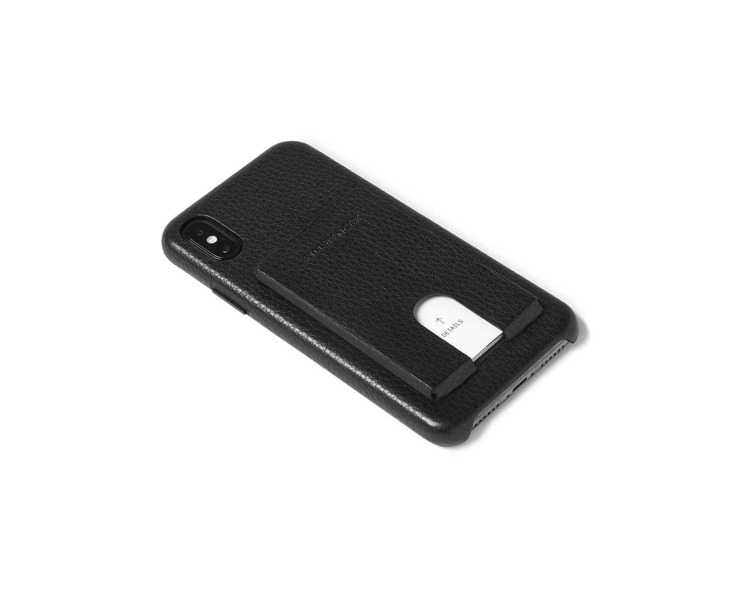 CARD CARRIER 3.0 for iPhone X and Xs | KILLSPENCER® - Black Leather