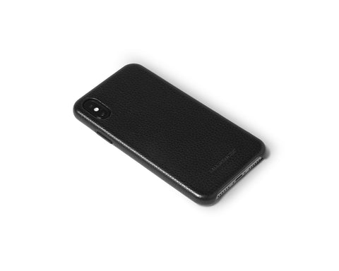 Snap Case for iPhone X | KILLSPENCER® - Black Leather