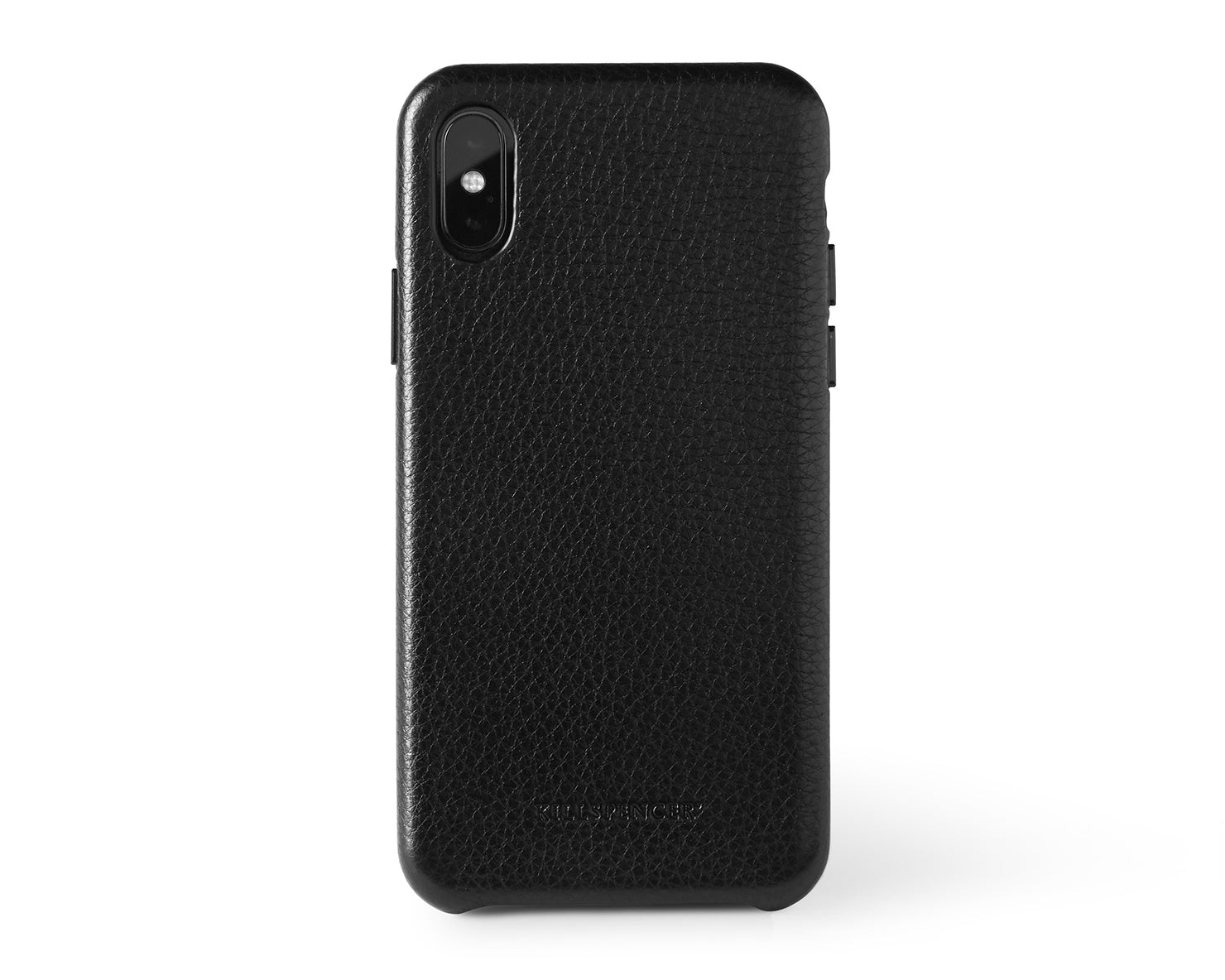 Snap Case for iPhone X and Xs | KILLSPENCER® - Black Leather