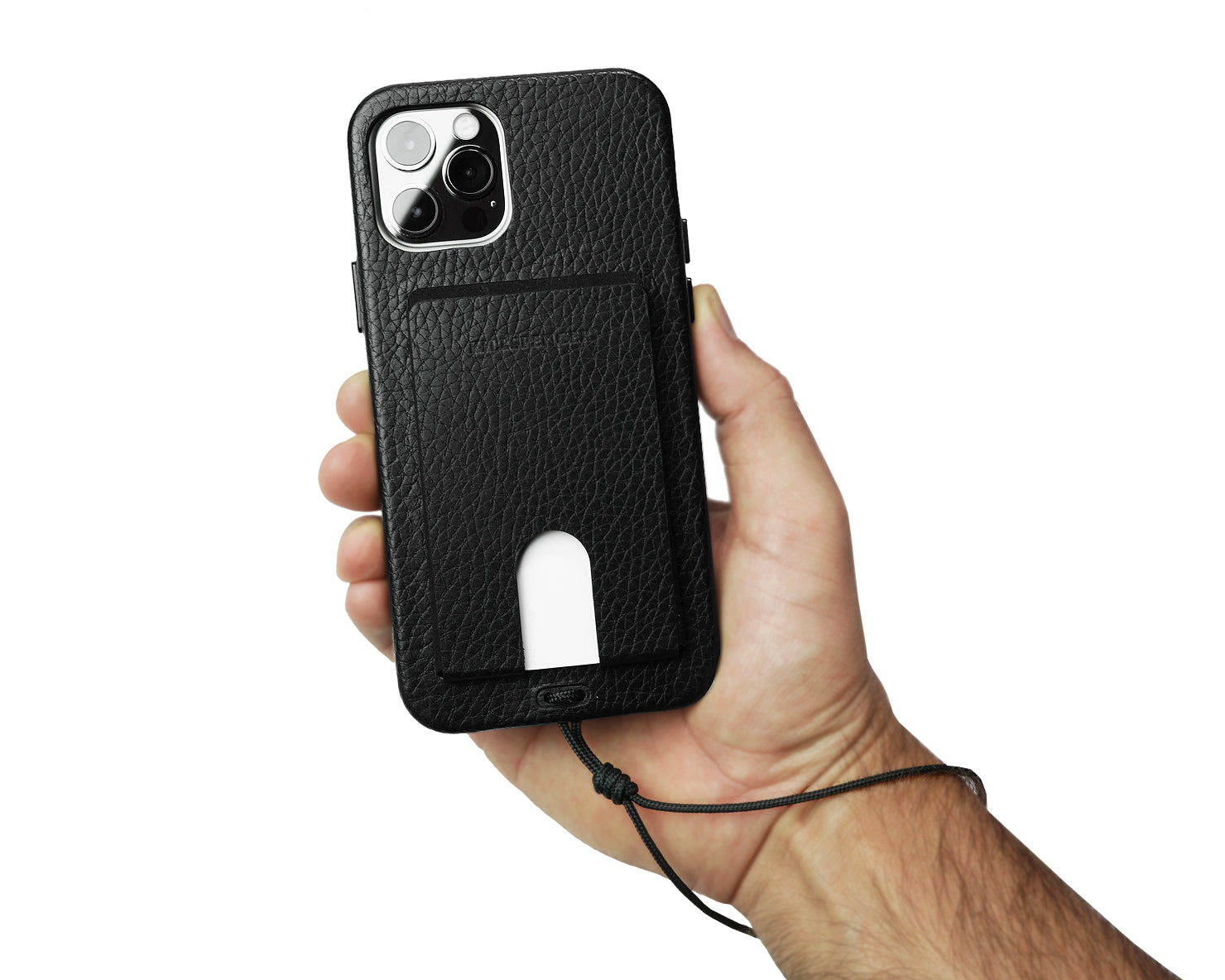 CARD CARRIER for iPhone 12 [PRE-ORDER] | KILLSPENCER® - Black Leather
