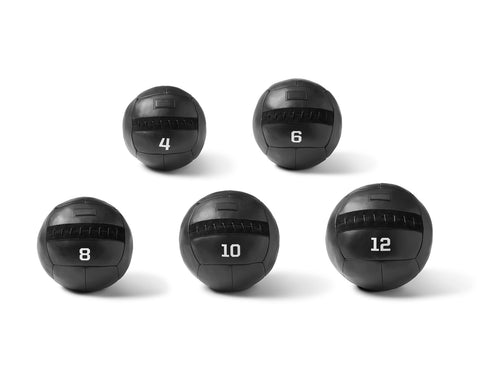 WEIGHTED MEDICINE BALL SET | KILLSPENCER® - Black Leather