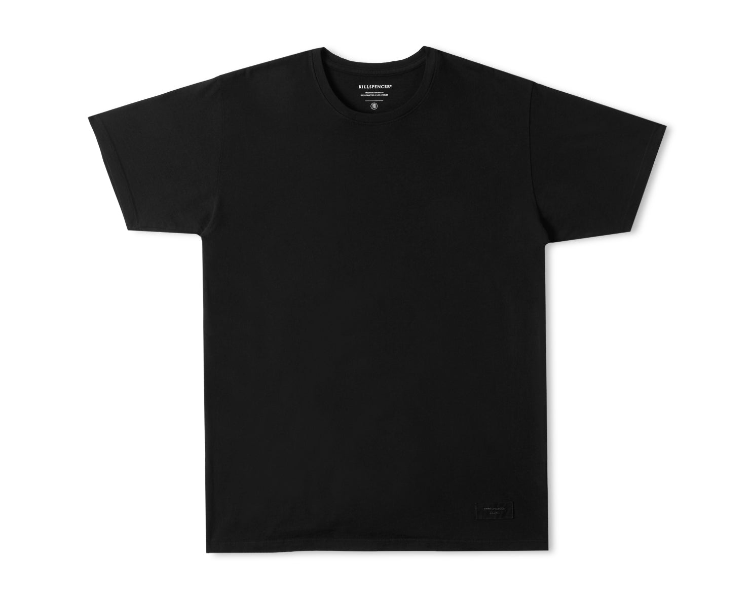 CREWNECK T-SHIRT | KILLSPENCER® - Black Cotton