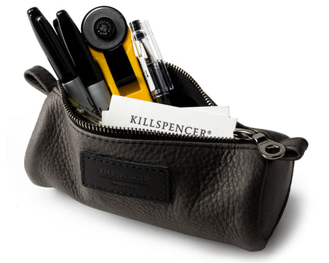 PENCIL CASE | KILLSPENCER® - Charcoal Grey Leather