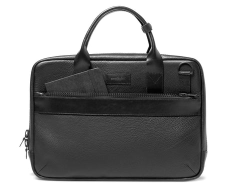 UTILITY ATTACHÉ BRIEFCASE | KILLSPENCER® - Black Leather