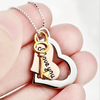 925 Sterling Silver Love You Message Tri-Color Three Tone Heart Necklace