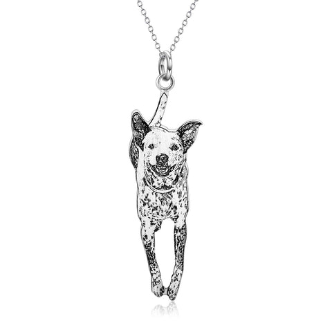 2 - 925 Sterling Silver Customized Pet Necklace