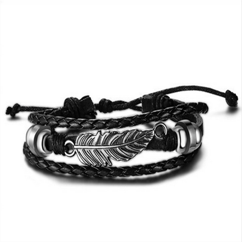 Fashion charm jewelry leather bracelet