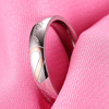 316L Stainless steel his and her heart wedding rings sets