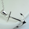 925 Sterling Silver Trendy Anchor Necklace