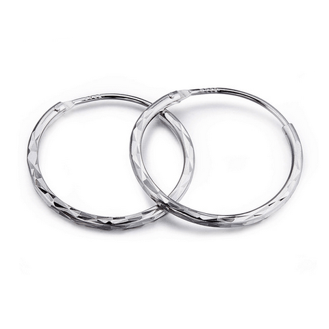 925 Sterling Silver Brincos Small Hoop Earrings