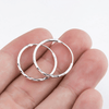 925 Sterling Silver 2015 Brincos Small Hoop Earrings