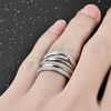 925 Sterling Silver Big Ring Anillos de Plata