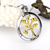 925 Sterling Silver Gold Life Tree Choker Necklace