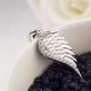 925 Sterling Silver Cubic Zircon Angel Wing Pendant Necklace