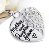 925 Sterling Silver Mother Daughter Love Heart Necklace