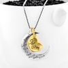 925 Sterling Silver I Love You to The Moon and Back Mom Necklace