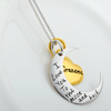 925 Sterling Silver Grandma I Love You To The Moon and Back Necklace