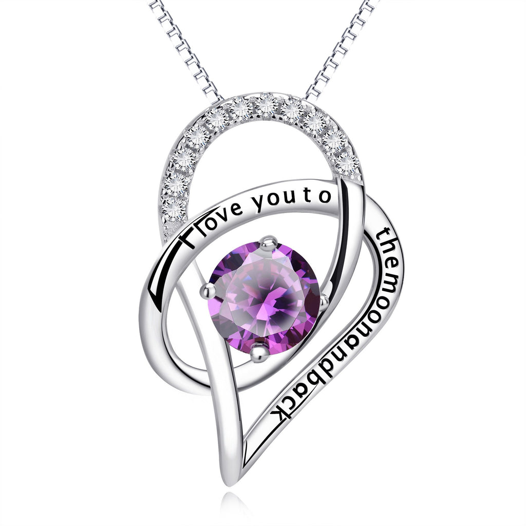 9. I Love You to The Moon Heart - 925 Sterling Silver