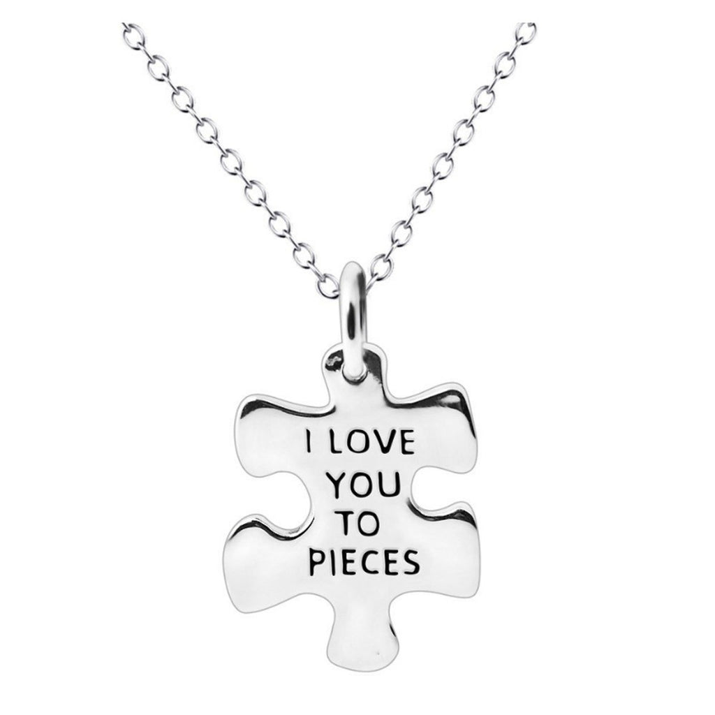 yellow silver heart puzzle slide necklace i gold co tiffany and pendant