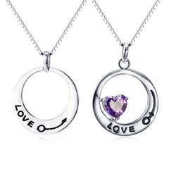 For Her & Him - Two pieces sterling silver necklace set
