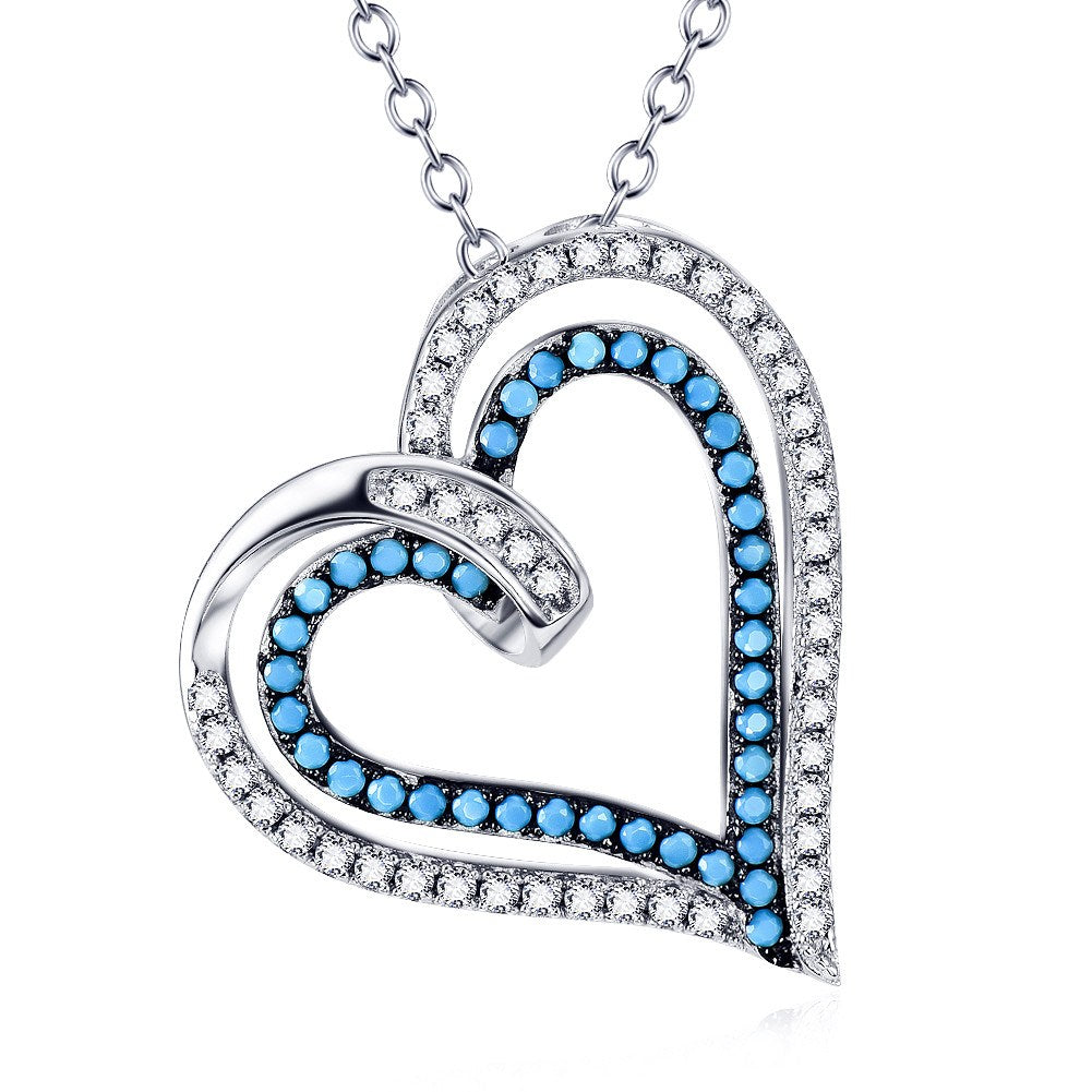 5. Blue Heart - 925 Sterling Silver Necklace