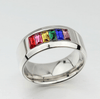Stainless Steel Multicolor Crystal Ring for men and women - PROMO