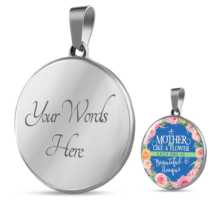 Mother Is Like A Flower - Necklace