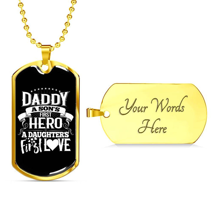 Daddy's First Hero - Military Chain