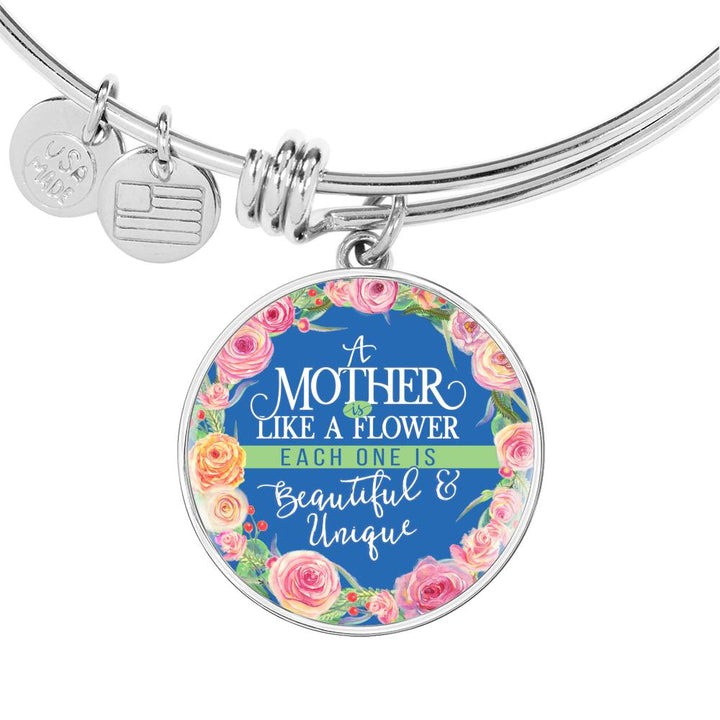 Mother Is Like A Flower - Bangle