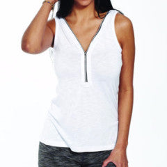 Bamboo Reversible Zip Tank Top