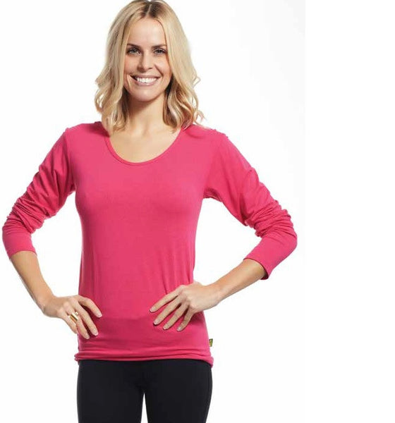 Bamboo Jersey Scoop Neck Long Sleeve - style B266 - Westport BamBooo Company - 1