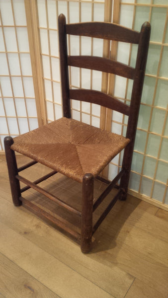 Ladder Back Chair with rush seat - Westport BamBooo Company