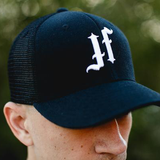 Black Curved Bill Trucker