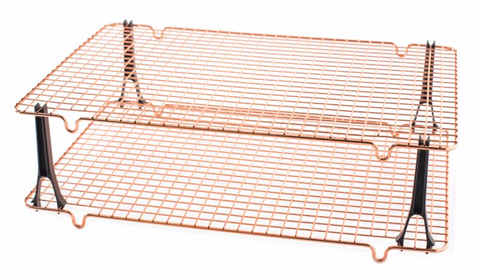 Copper-plated Grid Stackable Rack