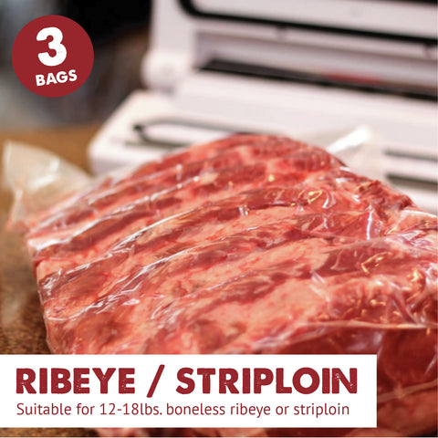 Dry Aging Bags Ribeye and Striploin