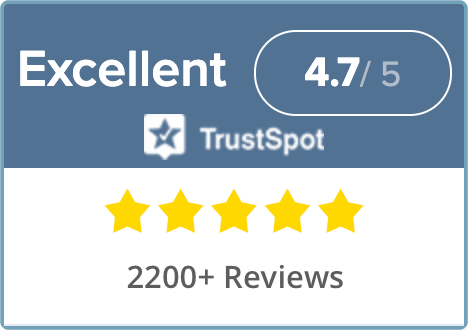 Over 2000 Reviews on Trustpot