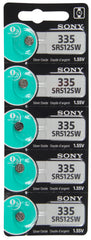 Sony 335 SR512SW 1.55V Silver Oxide Battery TearStrip