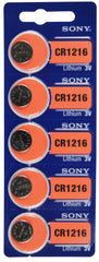 Sony CR1216 Lithium Battery 3V, 30 mAh TearStrip