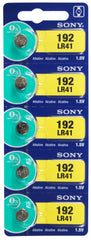 Sony LR41 Alkaline Battery 1.5V TearStrip = 192 / AG3