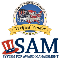 SAM Certified Government and Military Contractor Logo